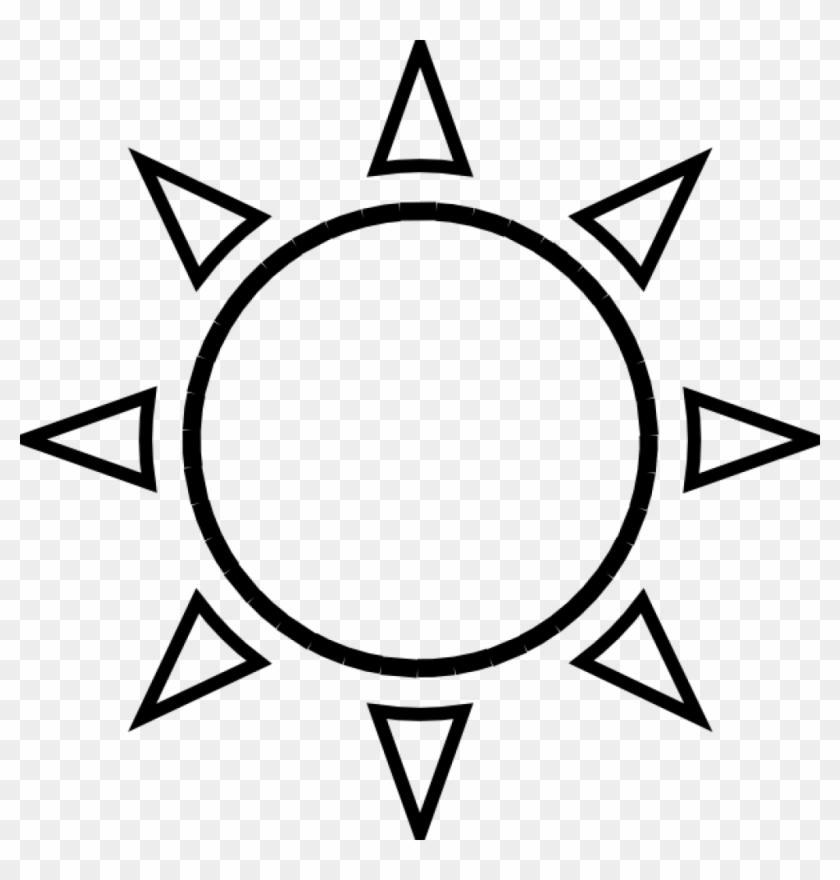 Sun Clip Art Black And White Sun Clipart Black And - Black And White Sunshine #11165