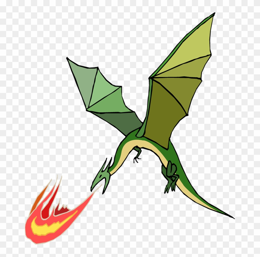 Do Dragons Exhale Fire - Fire Breathing Flying Dragon #11196