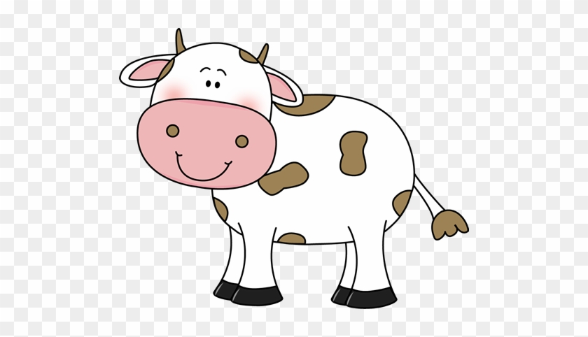 Cow With Brown Spots - Clipart Of A Cow #11192