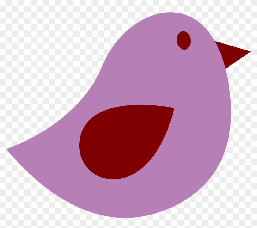 Purple Bird Clip Art At Clker Com Vector Online Clipart - Purple Bird Clipart #11193
