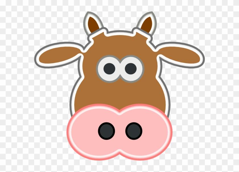 Brown Cow Head Clipart #11202