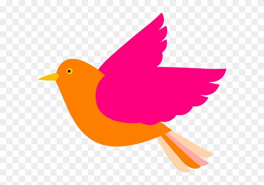 Smartness Ideas Birds Clipart Orange Bird Right Clip - Bird Clip Art #11211
