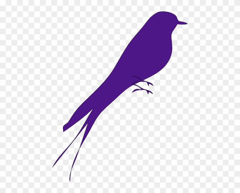 Big Purple Bird Svg Downloads - Purple Bird On Tree Clip Art #11224