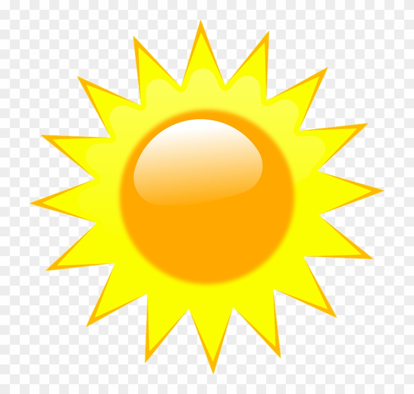 Sun, Rays, Light, Summer, Sunlight - Weather Forecast Symbols Sunny #11228