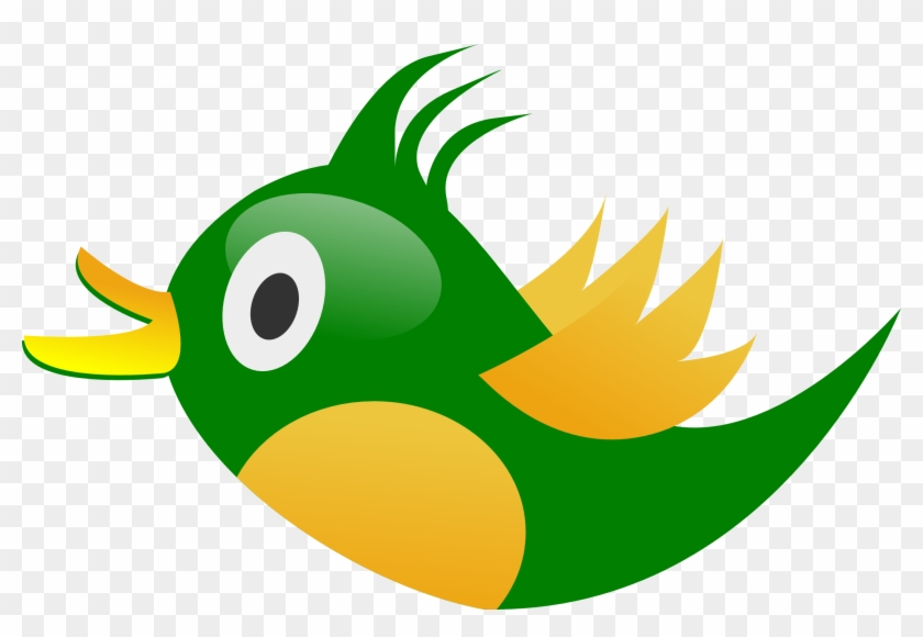 Clip Art Green Bird - Green And Yellow Bird Clipart #11238
