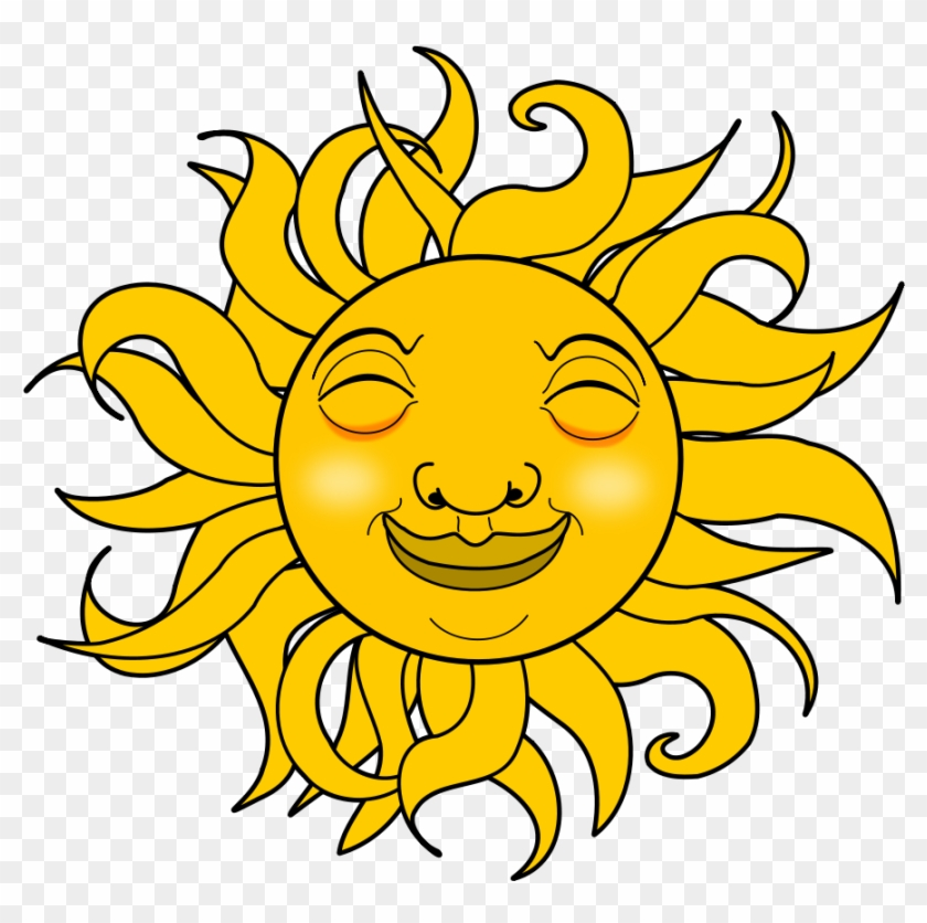 Sun And Moon Clip Art - Smiling Sun Gif Png #11242