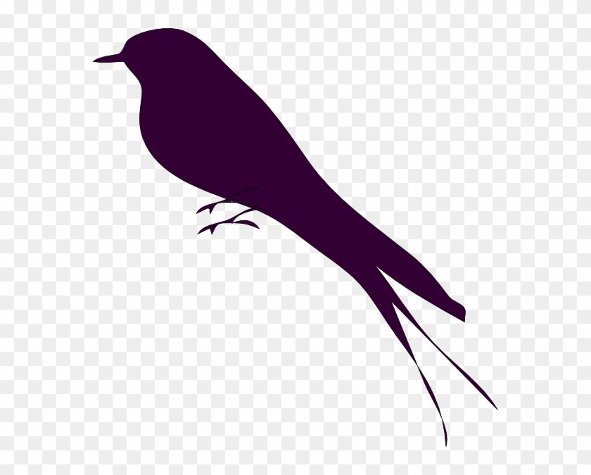 Mockingbird Small Bird On A Branch Clip Art At Vector - Clip Art Bird On Branch #11250