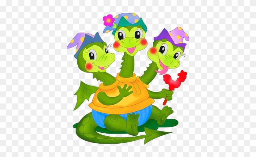 Cute Dragon Clipart - Змей Горыныч Девочка #11260