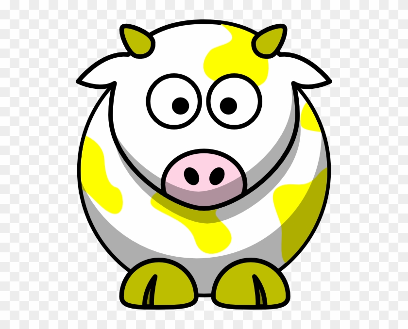 Yellow Cow Clip Art - Draw Cartoon Cow #11263