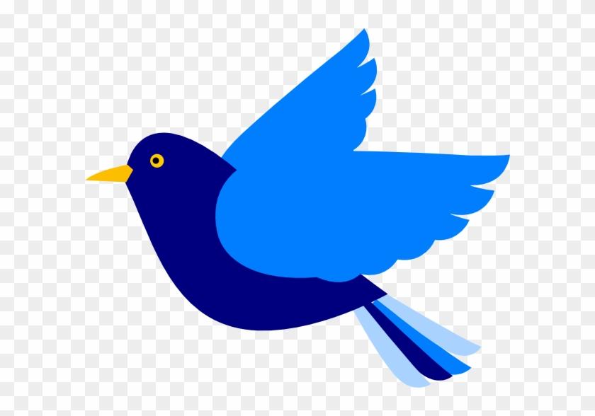 Blue Bird Left Clip Art At Clker Com Vector Online - Clip Art Blue Bird #11264