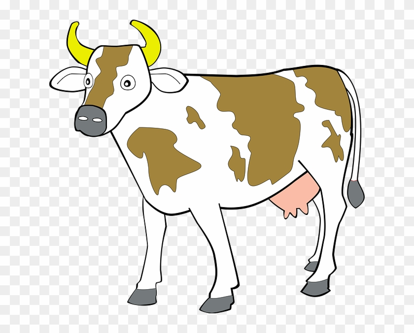 Cow 7 Clip Art At Clker - Animals Clipart #11270