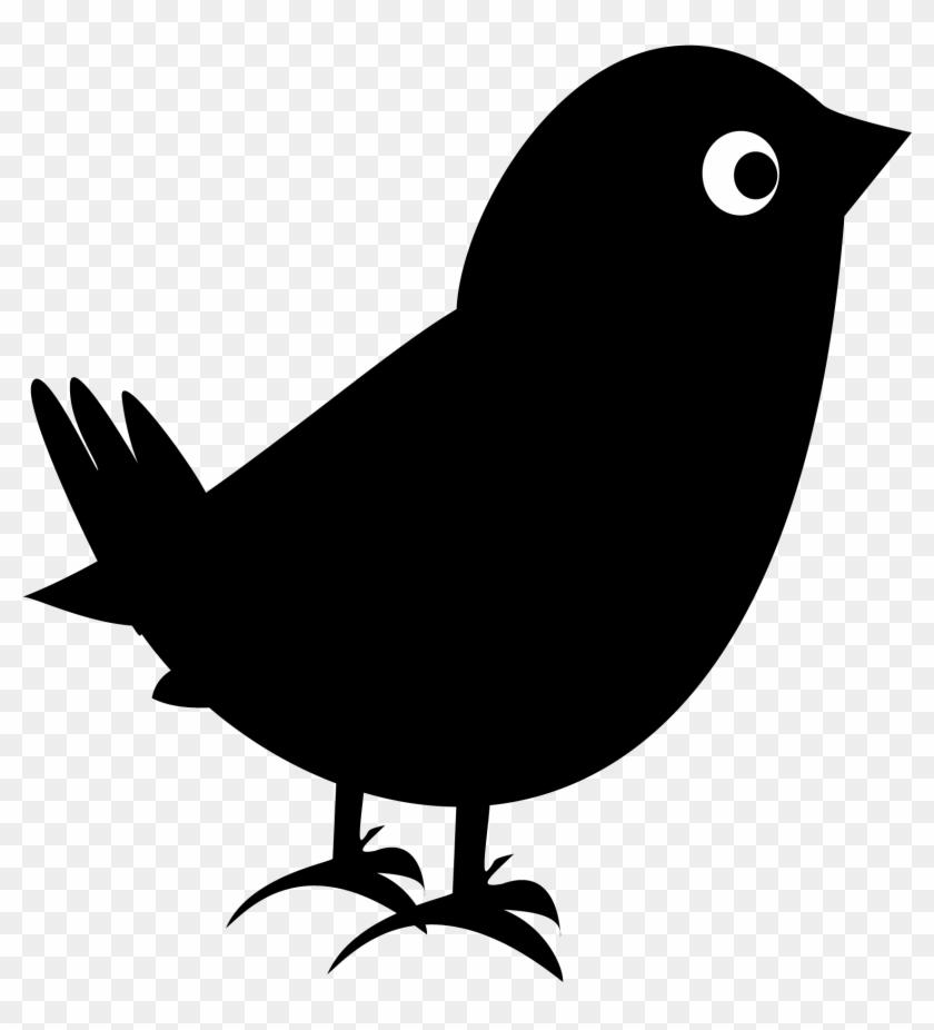Clip Art Of A Black Bird Blackbird Clipart Perched - Clipart Black Bird #11275