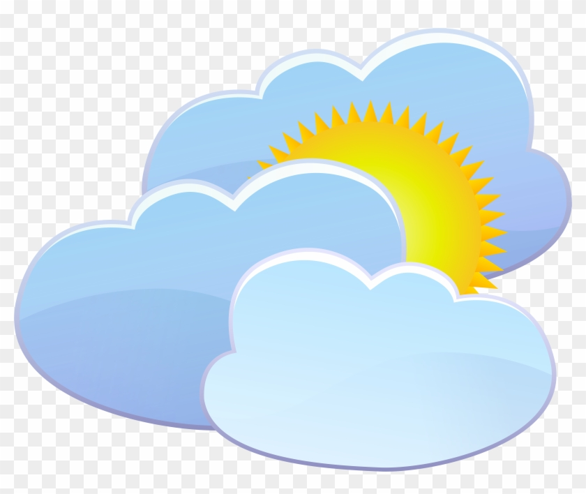 Three Clouds And Sun Weather Icon Png Clip Art - Three Clouds And Sun Weather Icon Png Clip Art #11320