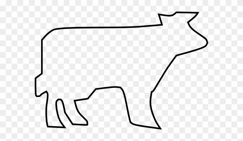 Cow Outline Clipart #11289