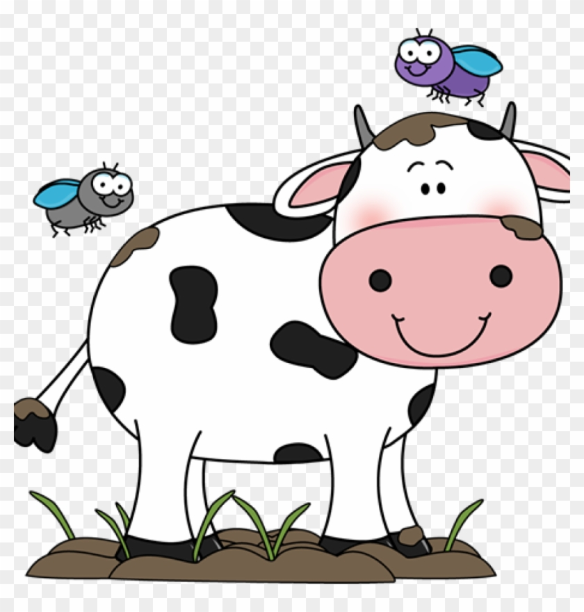 Cute Cow Clipart Cute Cow Clip Art Cow In The Mud With - Cow Cartoon #11293