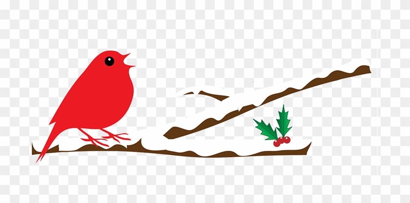 Bird On Branch With Snow - Winterclipart Png #11302