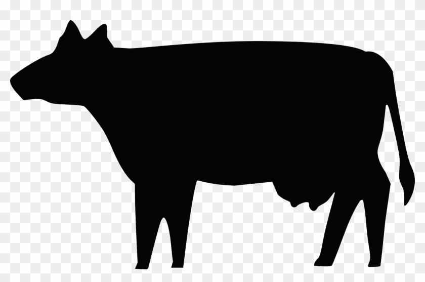Cow Silhouette Clip Art Free Vector 4vector - Cow Silhouette Clip Art #11321