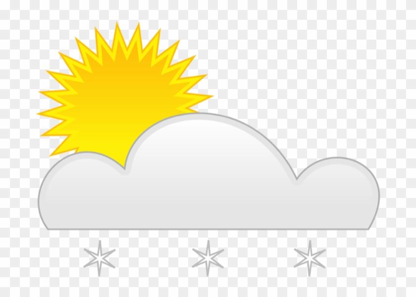 Partly Sun Snow - Sun Rain #11323