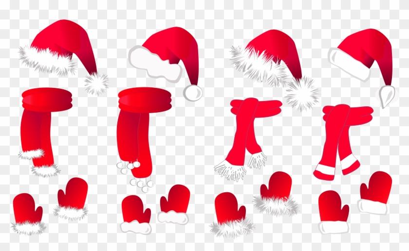 Christmas Clipart Borders Christmas Clipart Free Christmas - Christmas Gloves Png #11337
