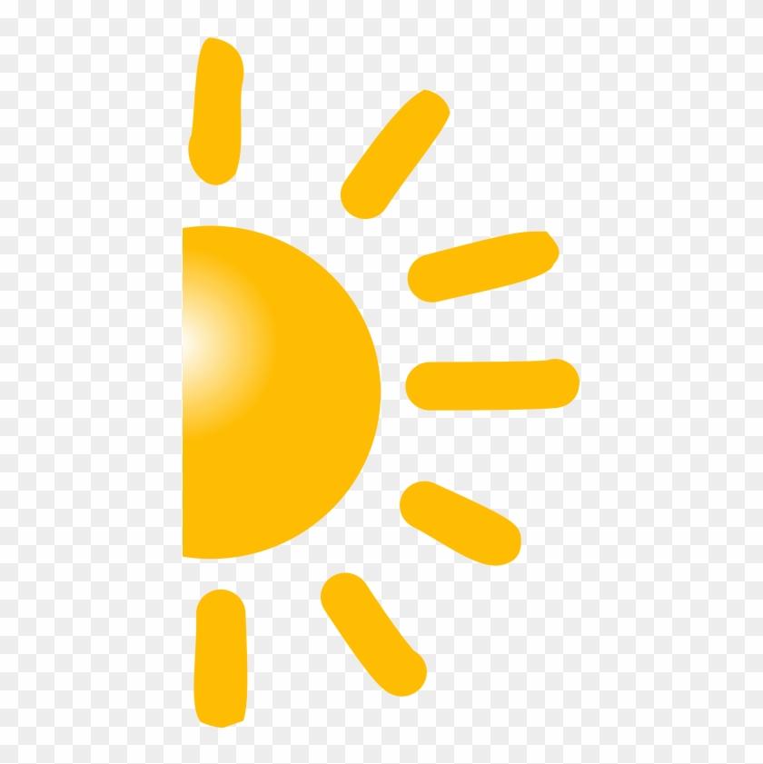 Sun Clipart Half Sun - Salute To The Sun #11370