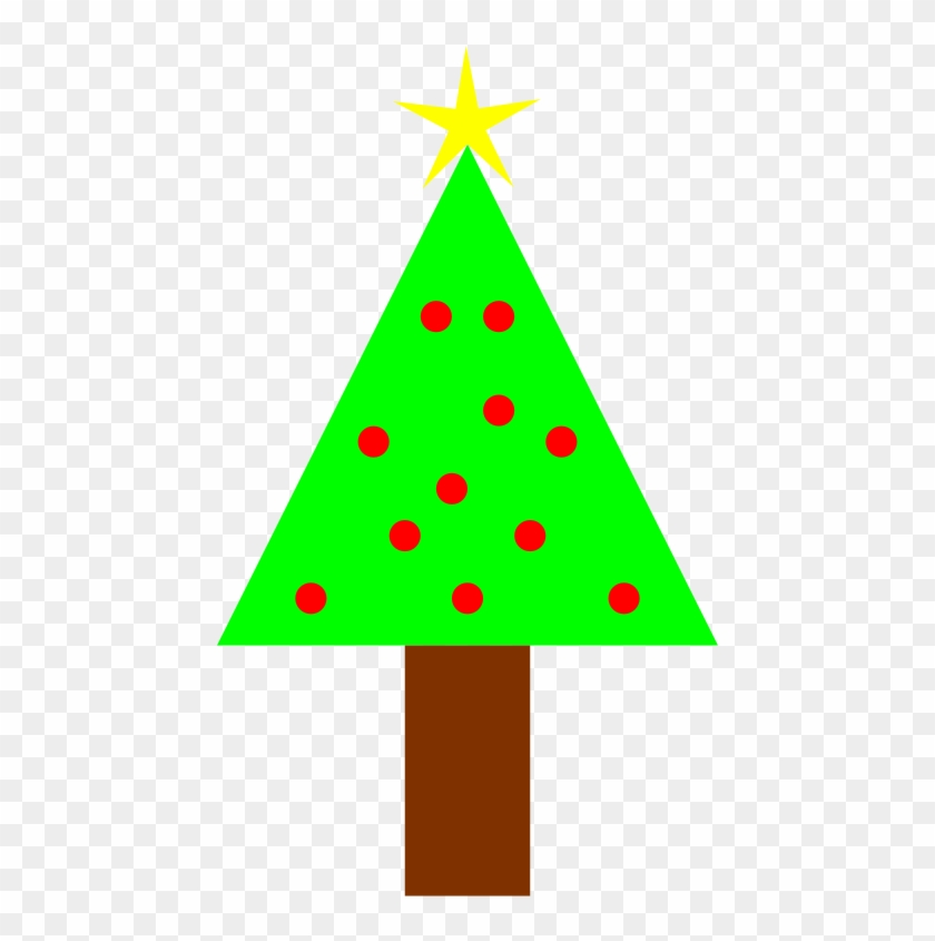 Free Christmas Clipart Png, Chr Stmas Icons - Christmas Tree Simple Clipart Transparent Background #11408