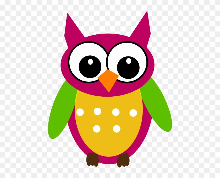 Owl Math Clip Art Free Clipart Images - Clip Art Of Colourful Owl #11418