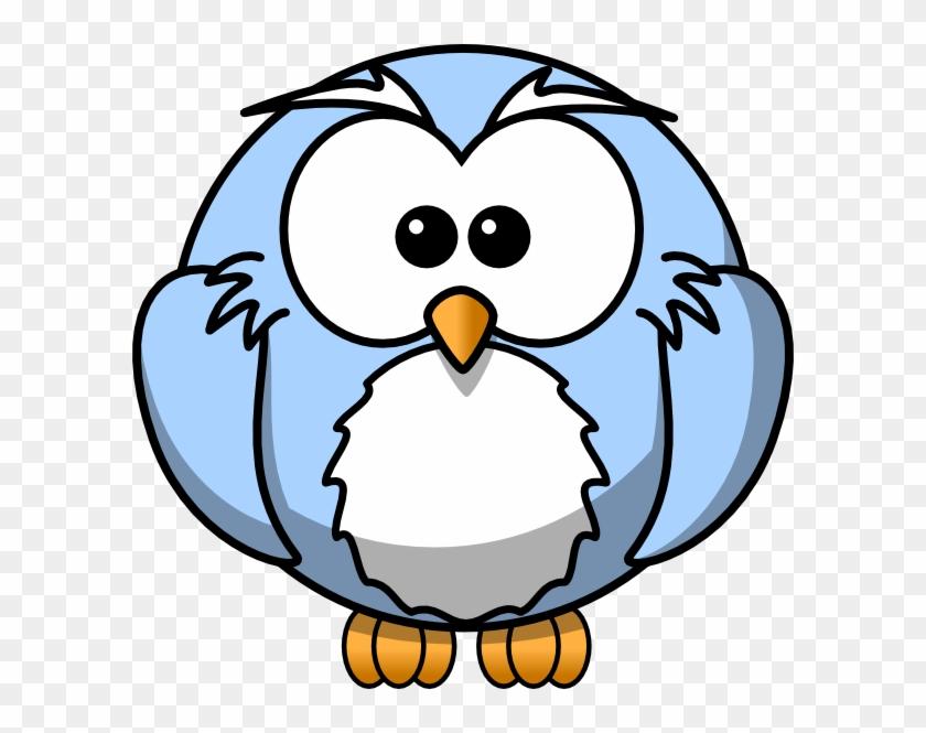 Blue Cartoon Owl Clip Art - Cartoon Owl Blue #11423