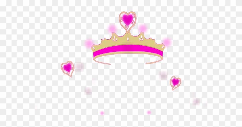 Princess Crown Pink Heart Clipart - Princess Crown Clip Art #11451