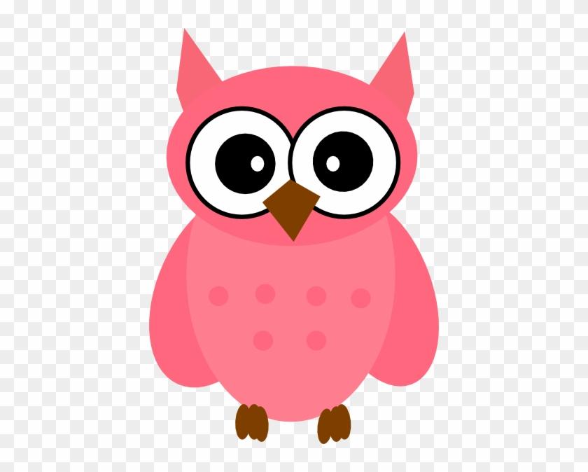 Owl Pink Clip Art - Cartoon Owls #11457