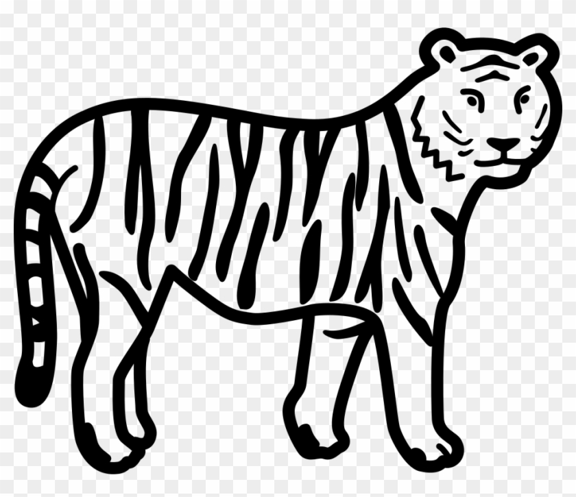 File - Tiger Clipart - Svg - Tiger Clipart Black And White #11479