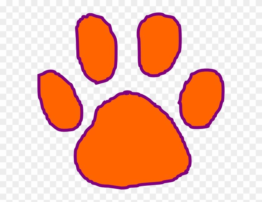 Clemson Tiger Paw Clip Art - Clemson Paw Clip Art #11486