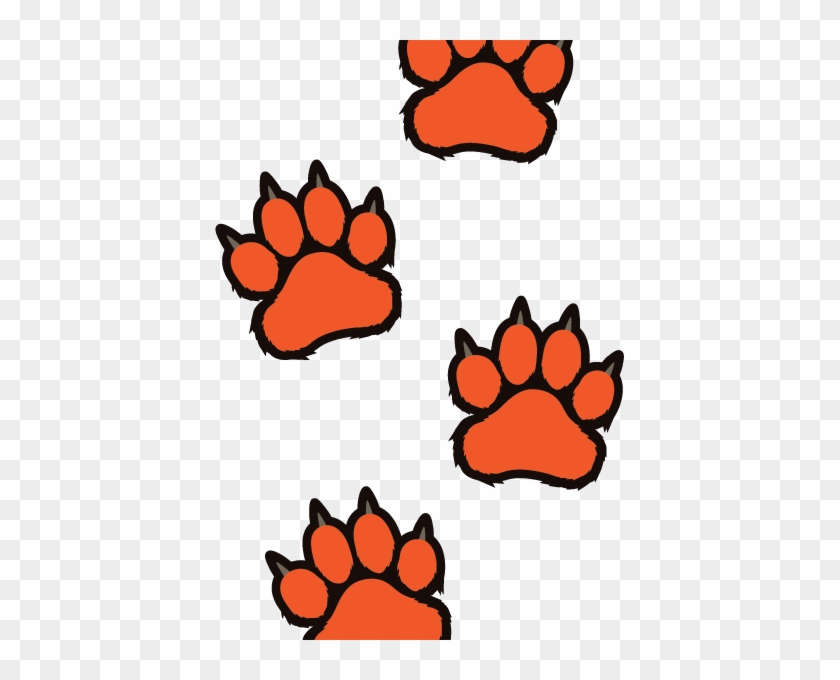 Startling Tiger Paw Print Clip Art Free Prints Clipart - Tiger Paw Coloring Page #11487