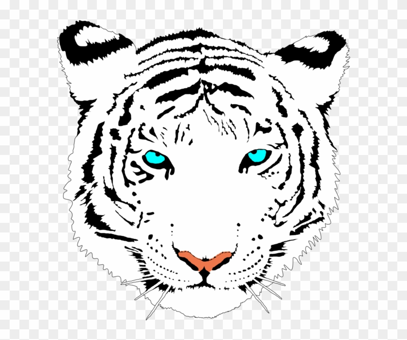 Large Cute Valentine Tiger Png Cute White Tiger Clipart - Gefährliches, Beängstigendes Gelb Mustert Tiger Mousepads #11501