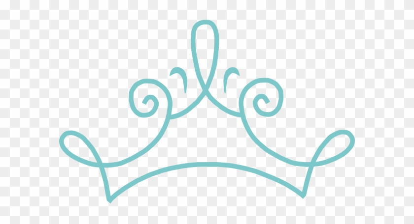 Princess Crown Blue Clip Art - Blue Princess Crown Clipart #11547