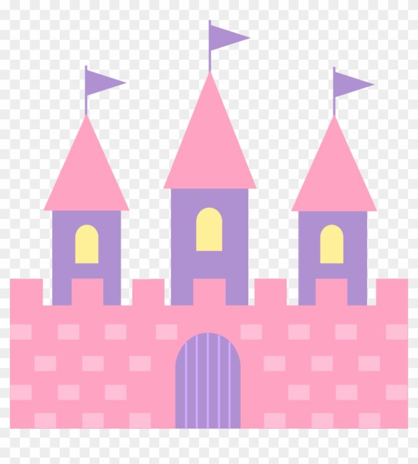 Cute Pink Princess Castle Free Clip Art - Princess Castle Clip Art #11553