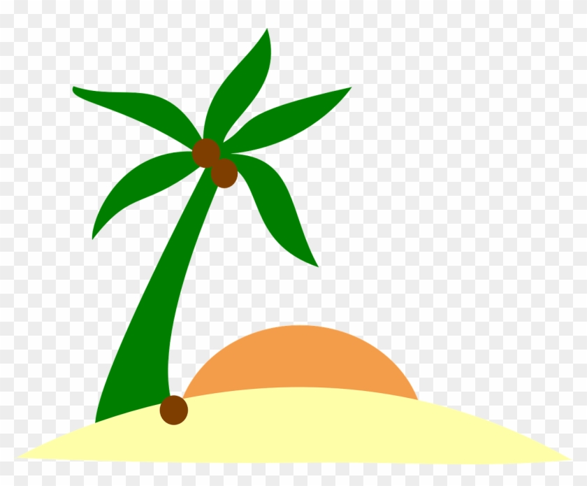 Free Vector Graphic Sand Beach Island Palm Sun Image - Island Clip Art #11567