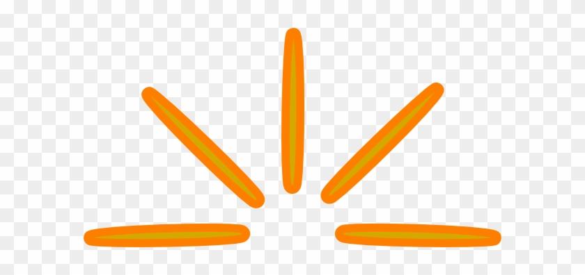 Ray Of Sun Orange Clip Art At Clker - Rays Of Sun Clipart #11588