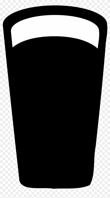 Beer Bottle Outline Clipart Beer - Pint Glass Silhouette Vector #11594
