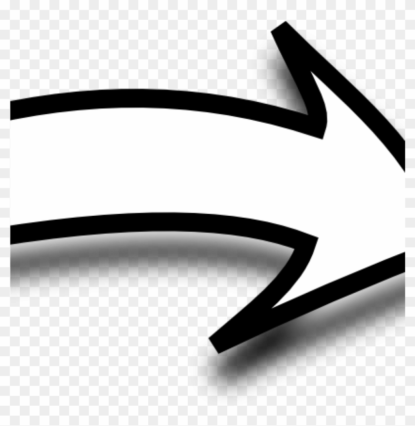 Arrow Clipart Black And White White Curvy Arrow Clip - Arrow Clipart Black And White #11620