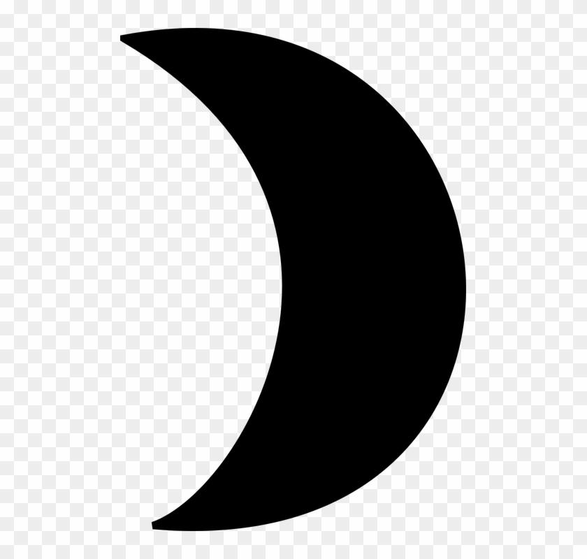Mond Clipart Schwarz Weiß - Crescent Moon Clipart #11657