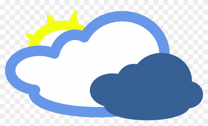 Weather - Mostly Cloudy Weather Symbol #11668