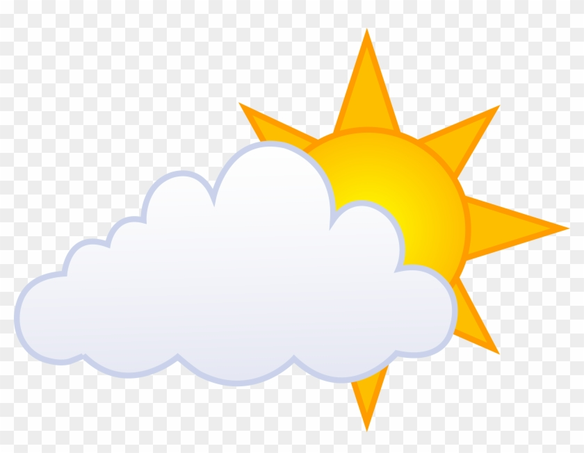Partly Cloudy With Sun And Rain Weather Icon Clip Art - Inner Earth Corey Goode #11676