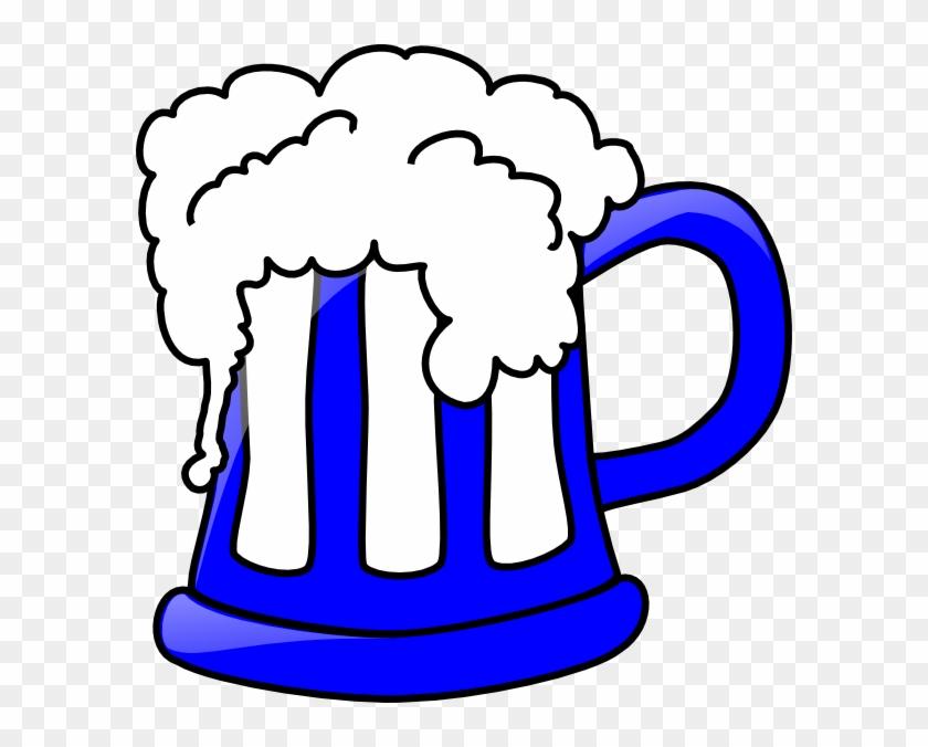 Blue Beer Mug Clip Art At Clker - Beer Clip Art #11686