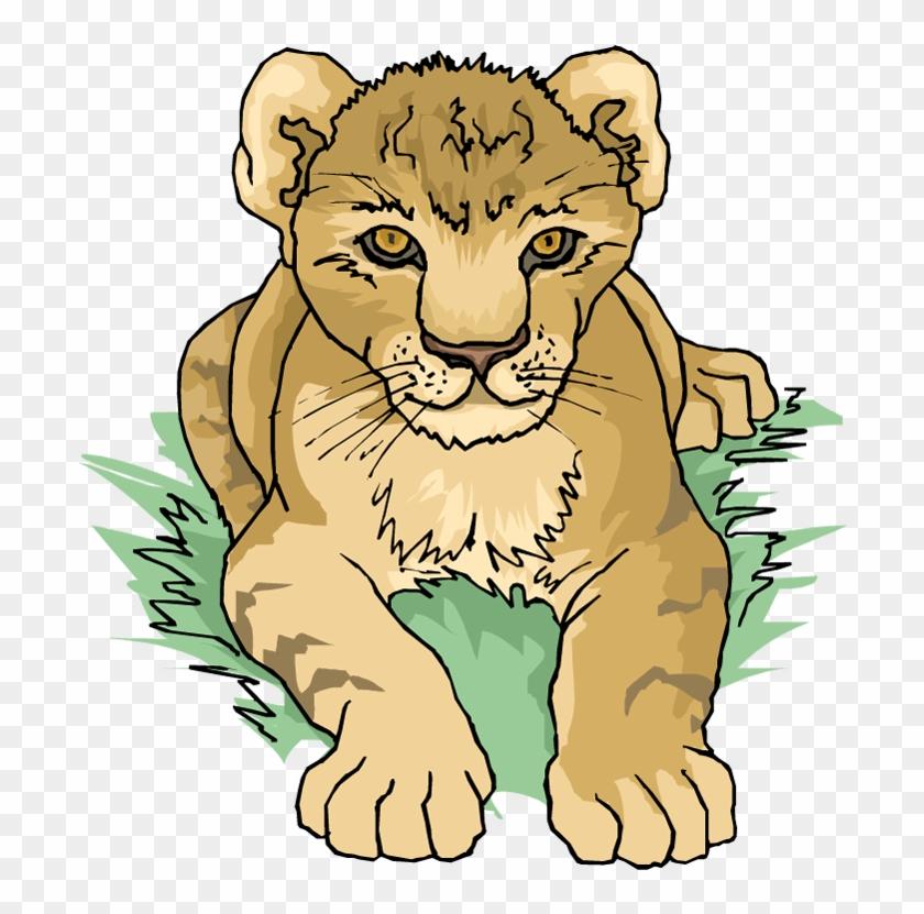 Lion Tiger Cougar Clip Art - Lion Tiger Cougar Clip Art #11739