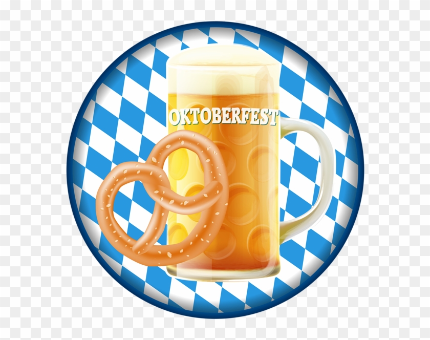 Oktoberfest Badge With Beer Png Clip Art Image - Black And White Patterns #11696