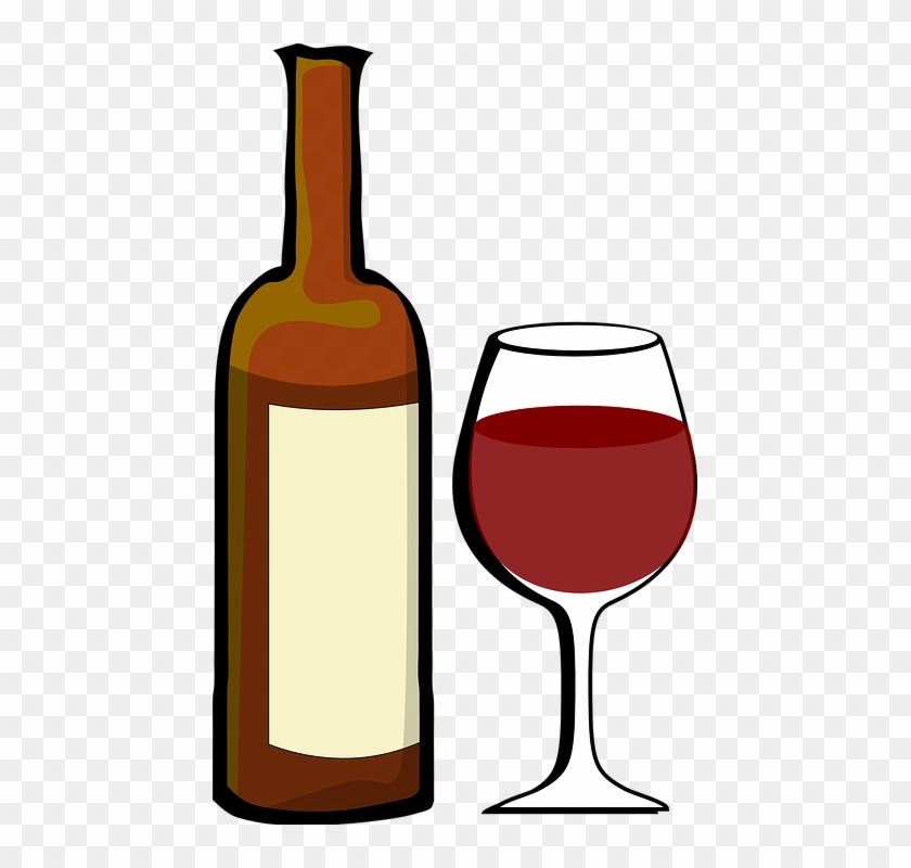 Alcohol Clip Art - Clipart Wine Glasses And Bottles #11709