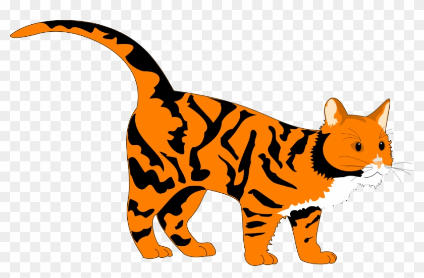 Tiger Cat - Orange Cat Clipart Png #11759