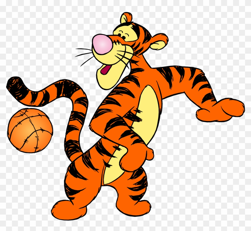 Winnie The Pooh Tigger With Ball Png Clip Art - Winnie The Pooh Tigger With Ball Png Clip Art #11779