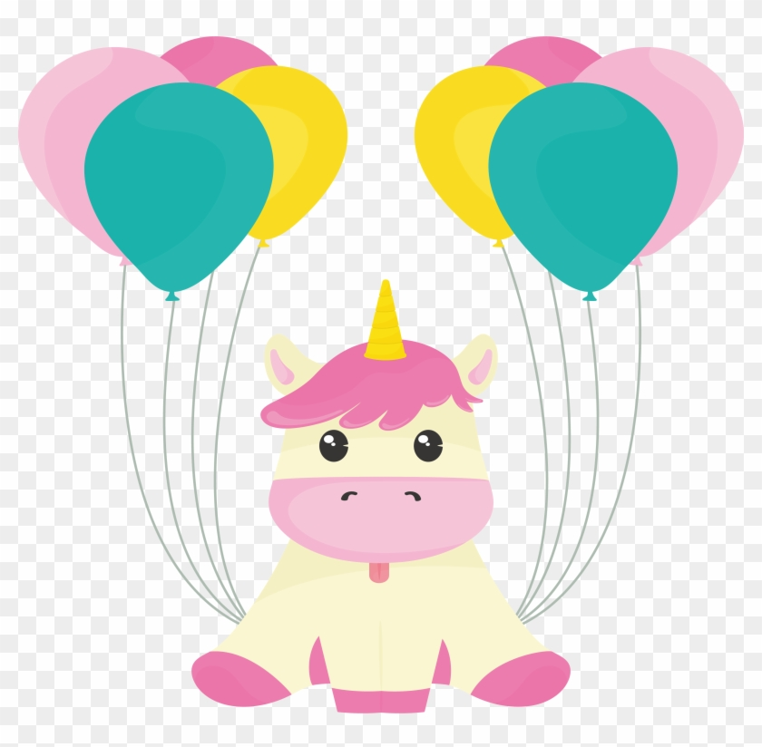 Balloon Unicorn Clip Art - Balloon Unicorn Clip Art #11820