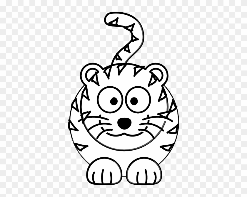 Tiger Black And White Cute Tiger Black And White Clipart - Easy To Draw Cartoon Tiger #11798